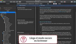 Modo oscuro en Scrivener