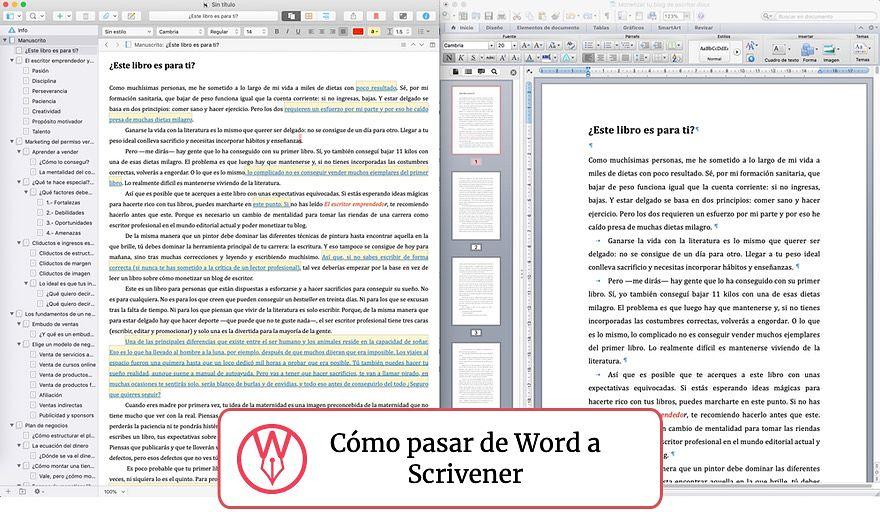 Cómo usar Scrivener para importar archivos de Word