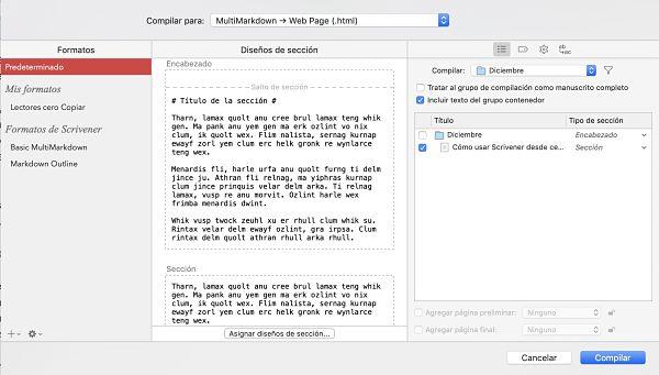 Como usar Scrivener compilador