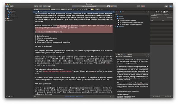 Como usar Scrivener vista personalizada