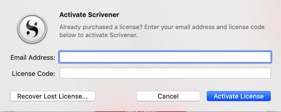 Licencia Scrivener en varios ordenadores