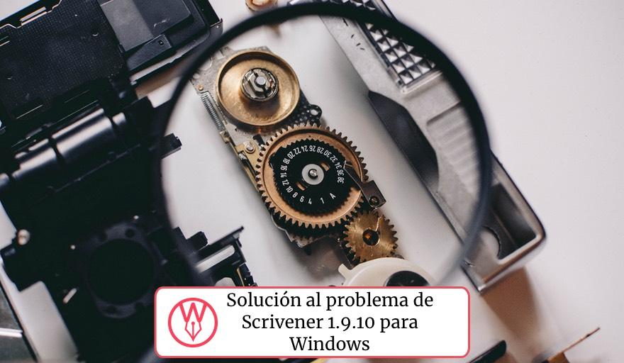 Solución al problema de Scrivener Windows