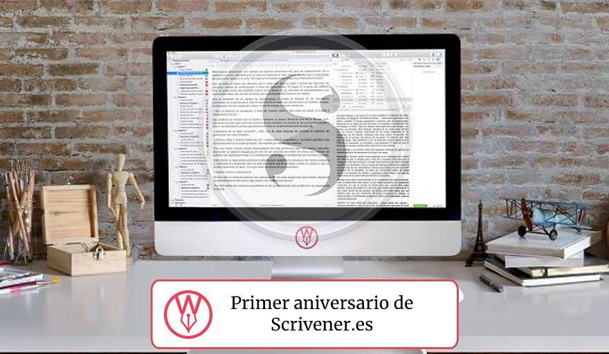 Primer aniversario scrivener ES 2019
