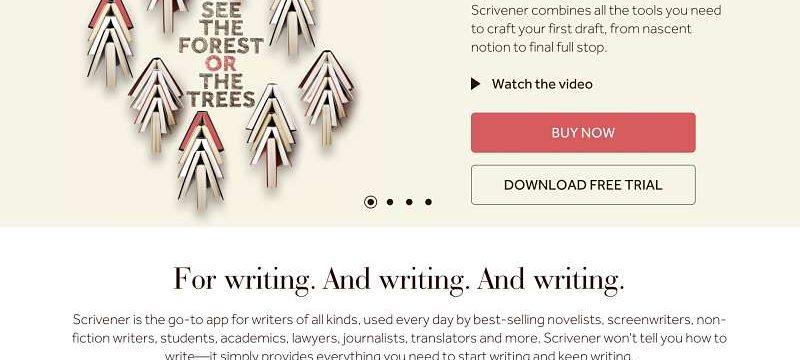 Cómo comprar Scrivener primer paso