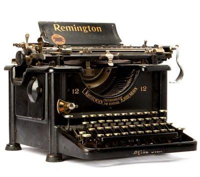 El primer procesador de textos maquina de escribir